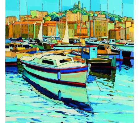 13-BOUCHES DU RHONE-Marseille le Vieux Port-70x50 cm- Edition 200 exemplaires