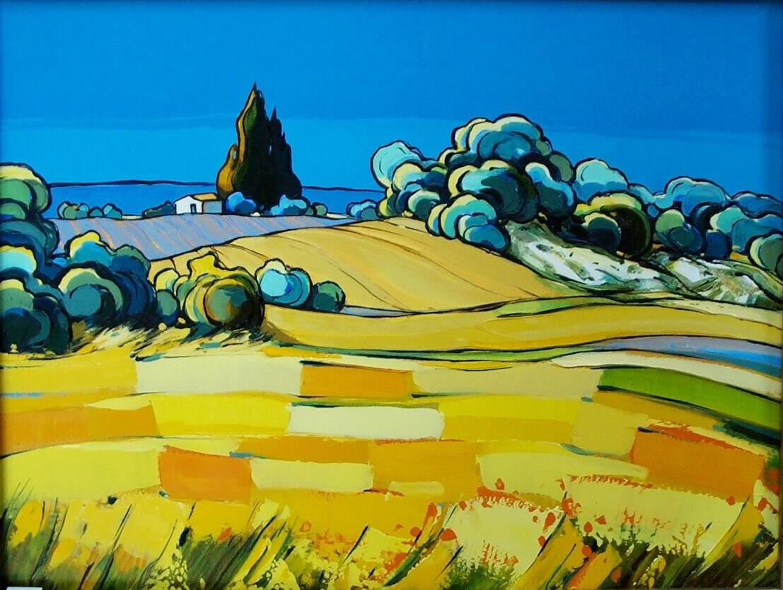 2001-La Campagne au Pied du Mont Ventoux-5F