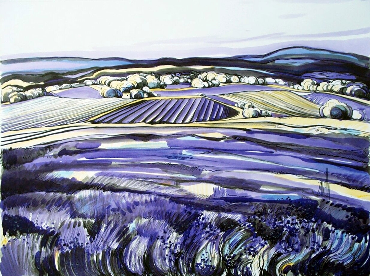 2001-Lavandes a Ferrassieres-12P-ESP-Collection Zanella