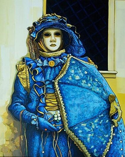 2001-Masque Bleu et Jaune-20F-ONU