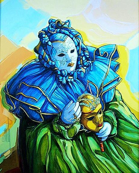 2001-Masque a la Collerette Bleue-6F