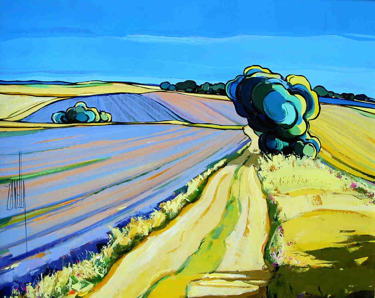 2002-Chemin dans les Lavandes-6F