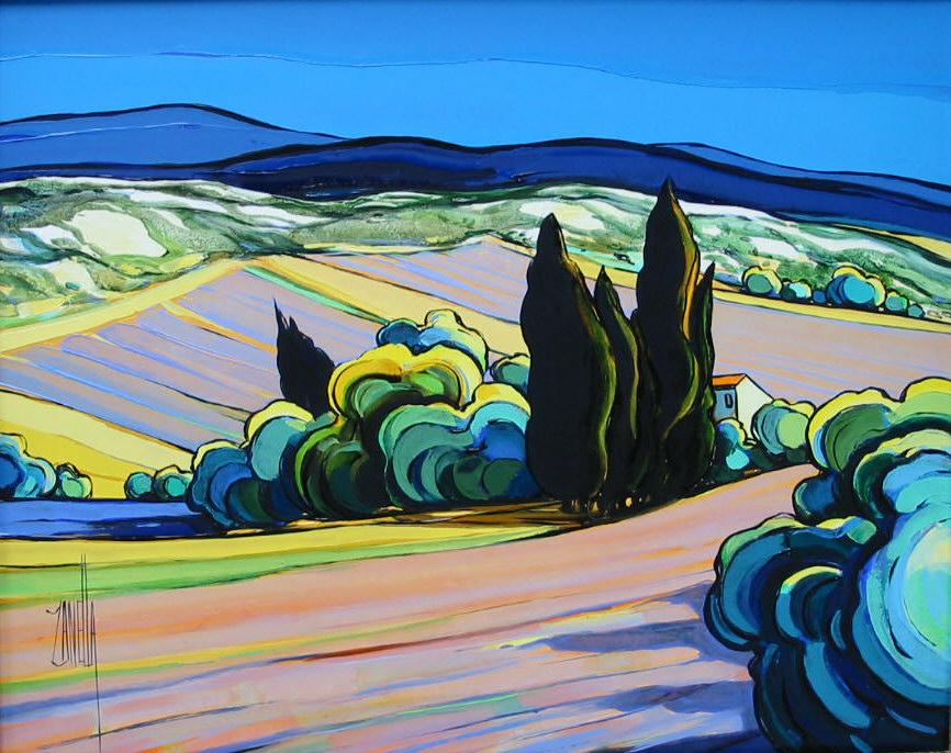 2002-Grange aux environs de Simiane (lavandes)-6F