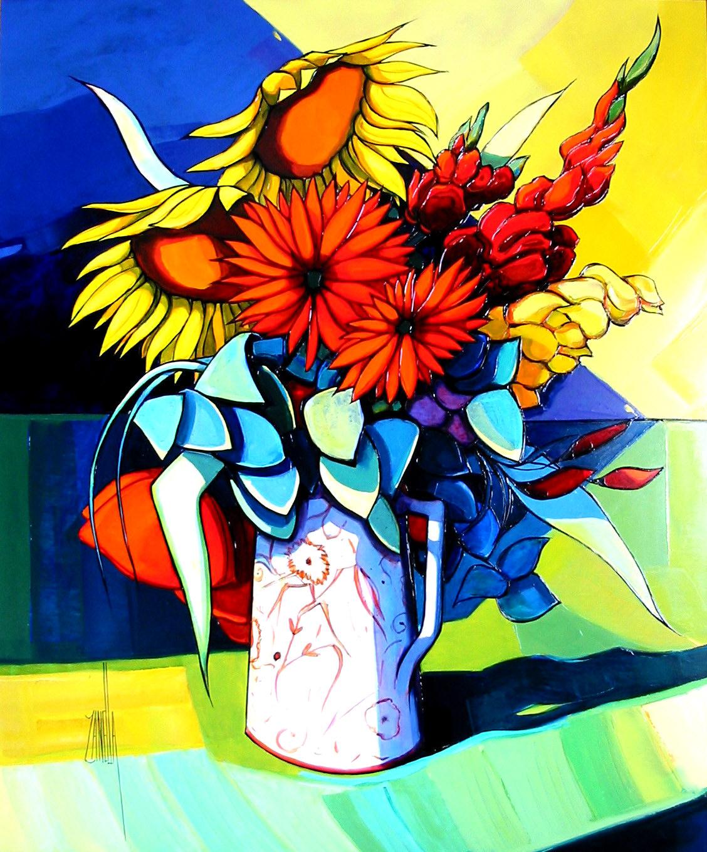 2002-Le Bouquet aux Tournesols-15F