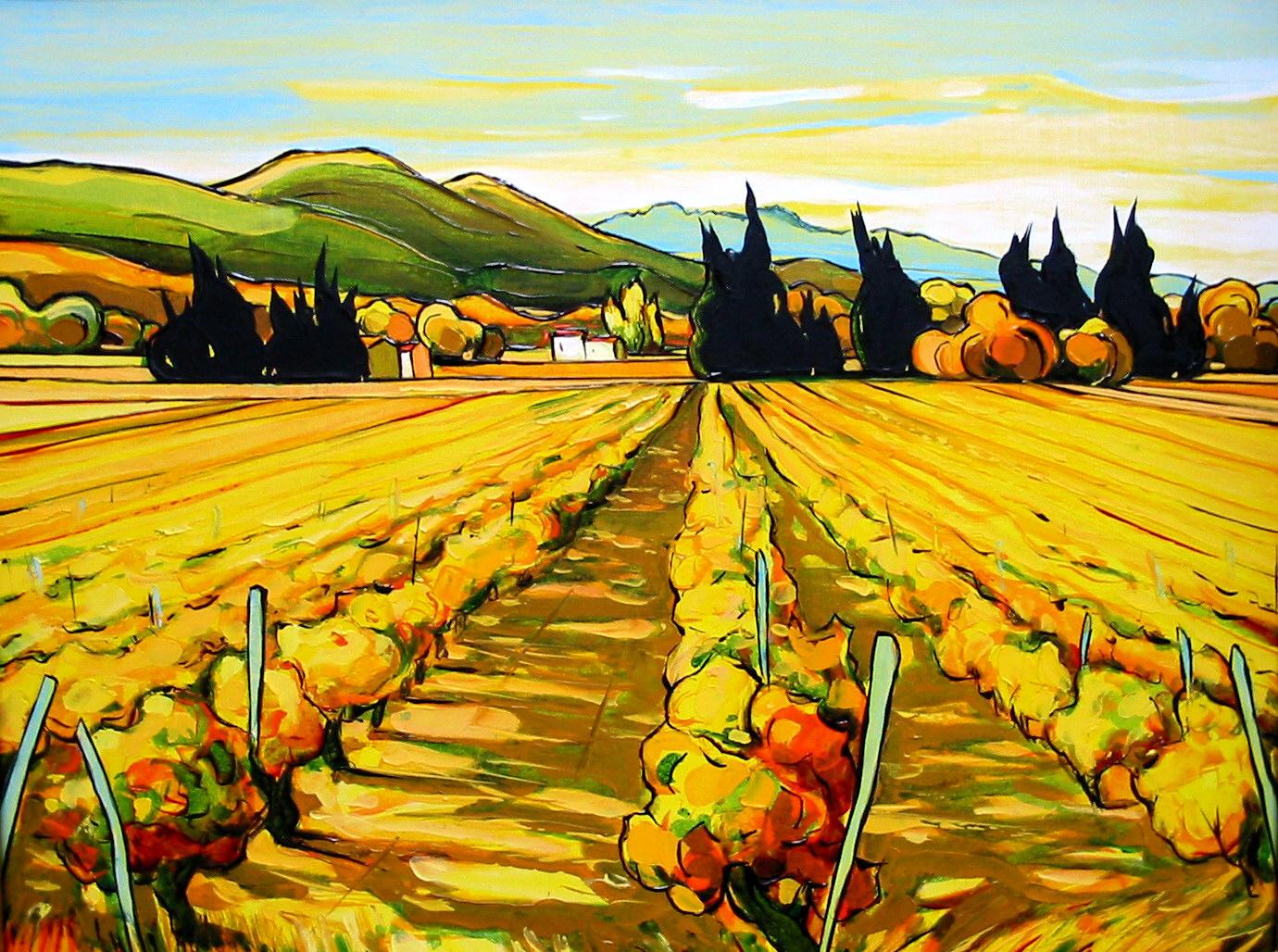 2002-Vignoble à Séguret 2-5F