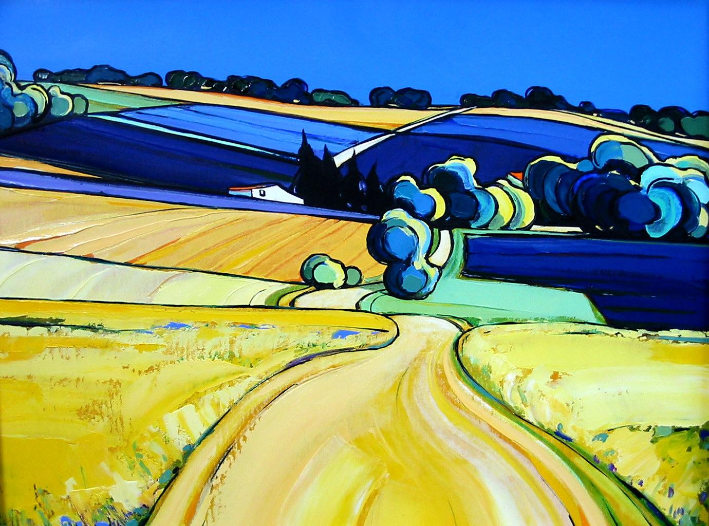 2003-Ferrassières, la route aux lavandes