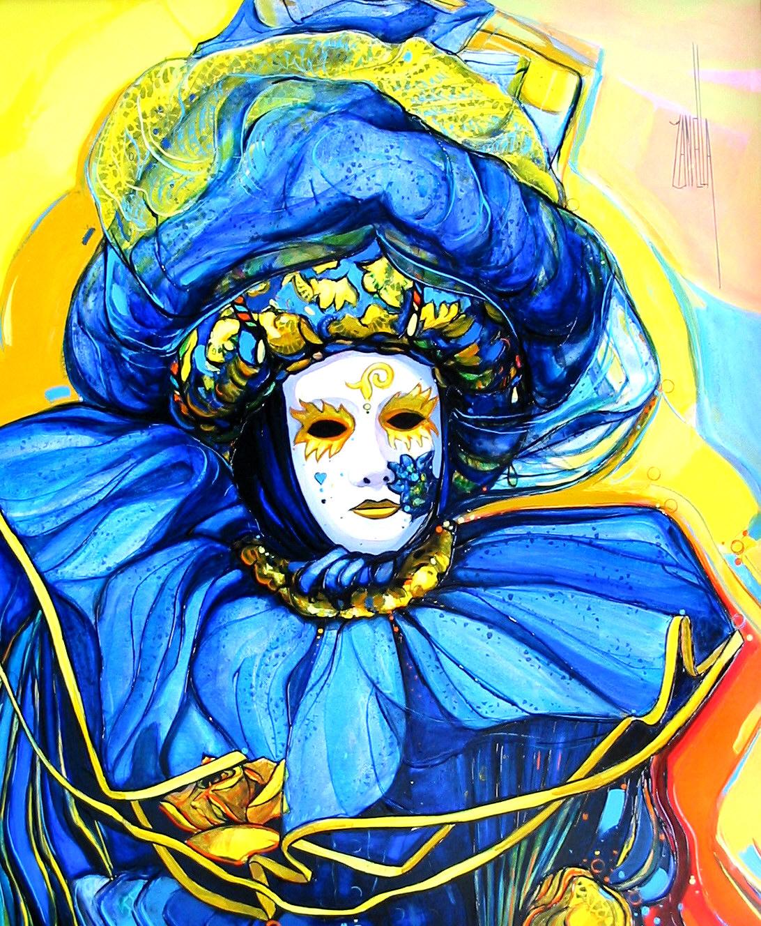 2003-Masque aux voiles bleus-8F
