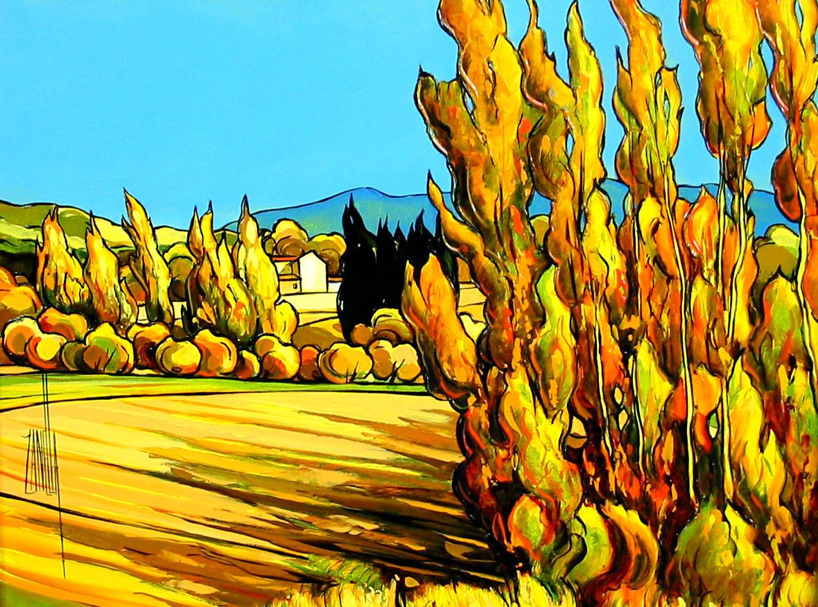 2003-Paysage aux peupliers-5F