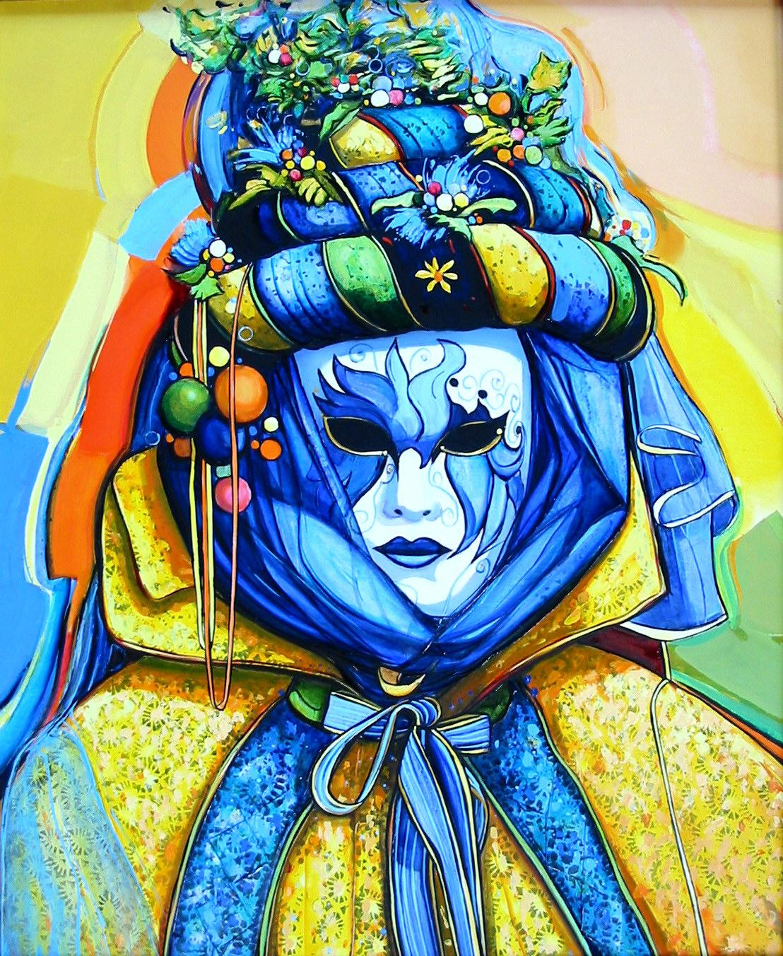 2003-Venise le masque-8F