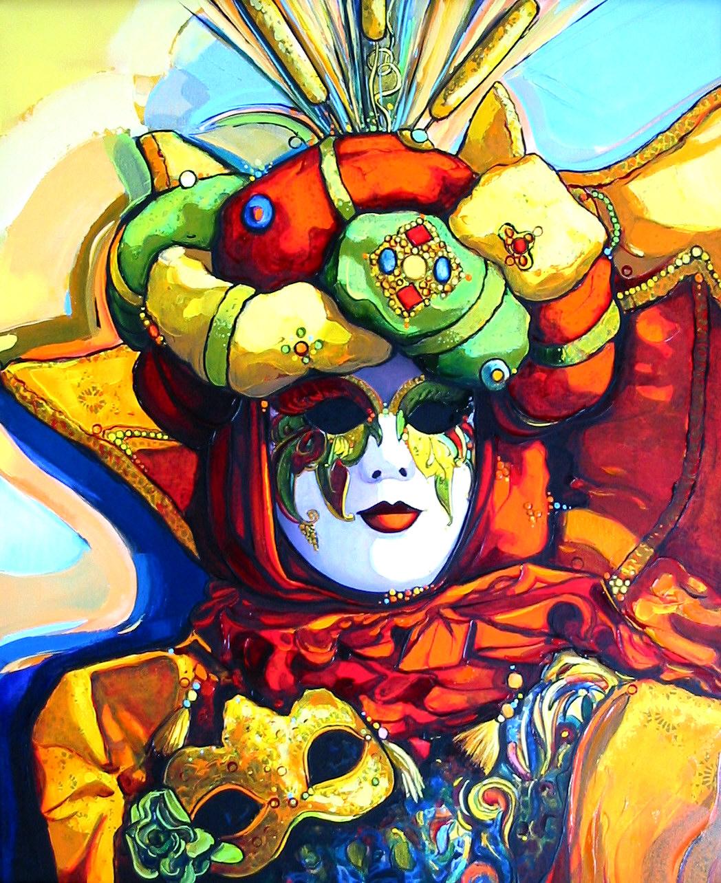 2003- Venise - le masque au loup-8F