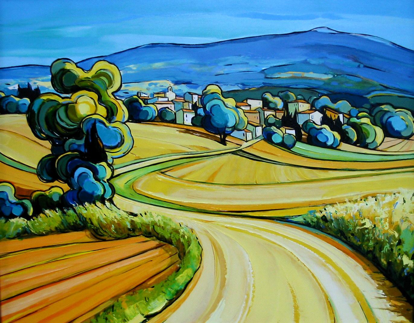 2003-Village au pied du Mt Ventoux-6F