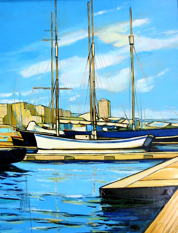 2003-Voiliers dans le port de Marseille-5F