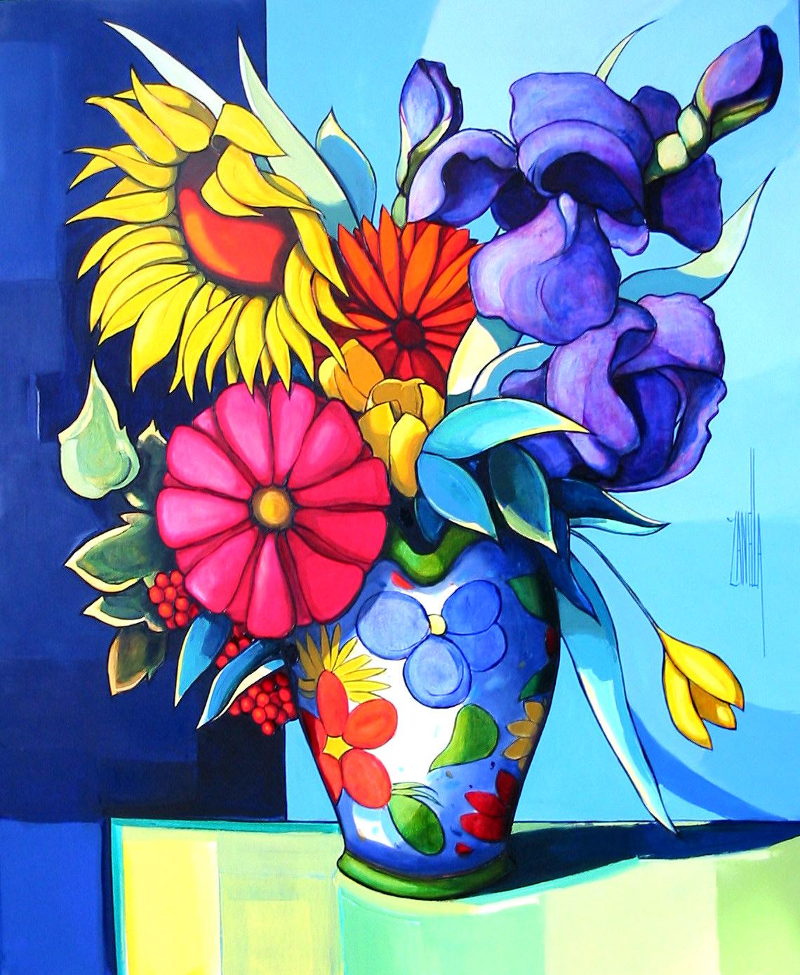 2003-le bouquet aux iris-15F