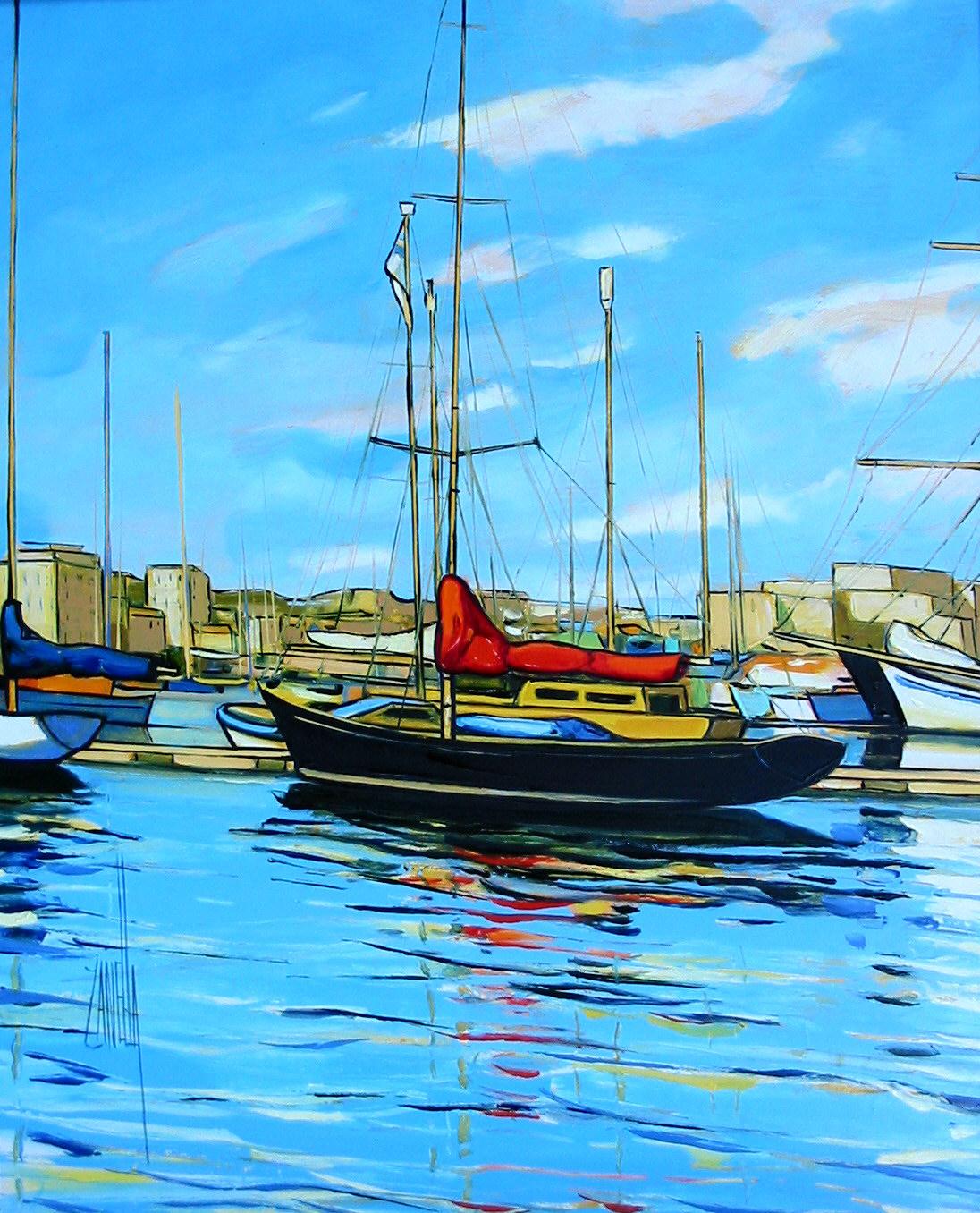 2003-voiliers dans le port de Marseille-6F