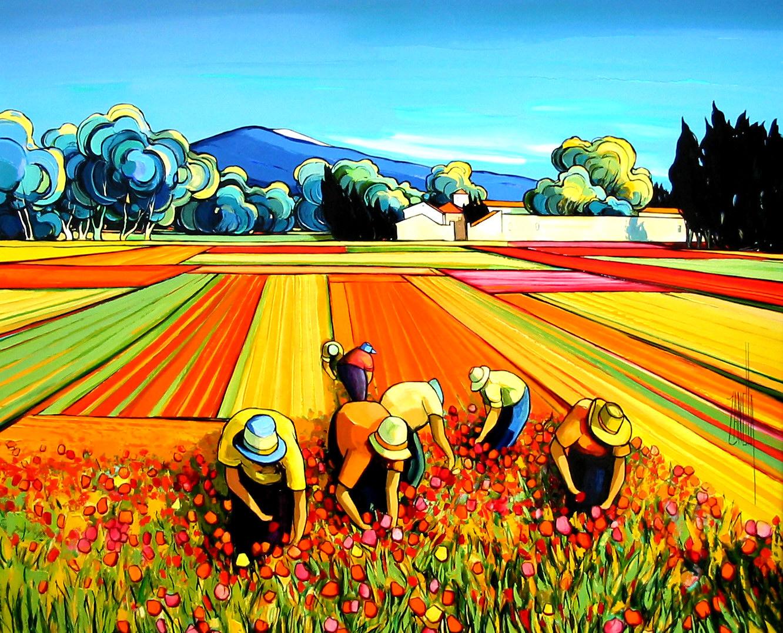 2004-Coupeurs de tulipes au Pied du Mont Ventoux-20F