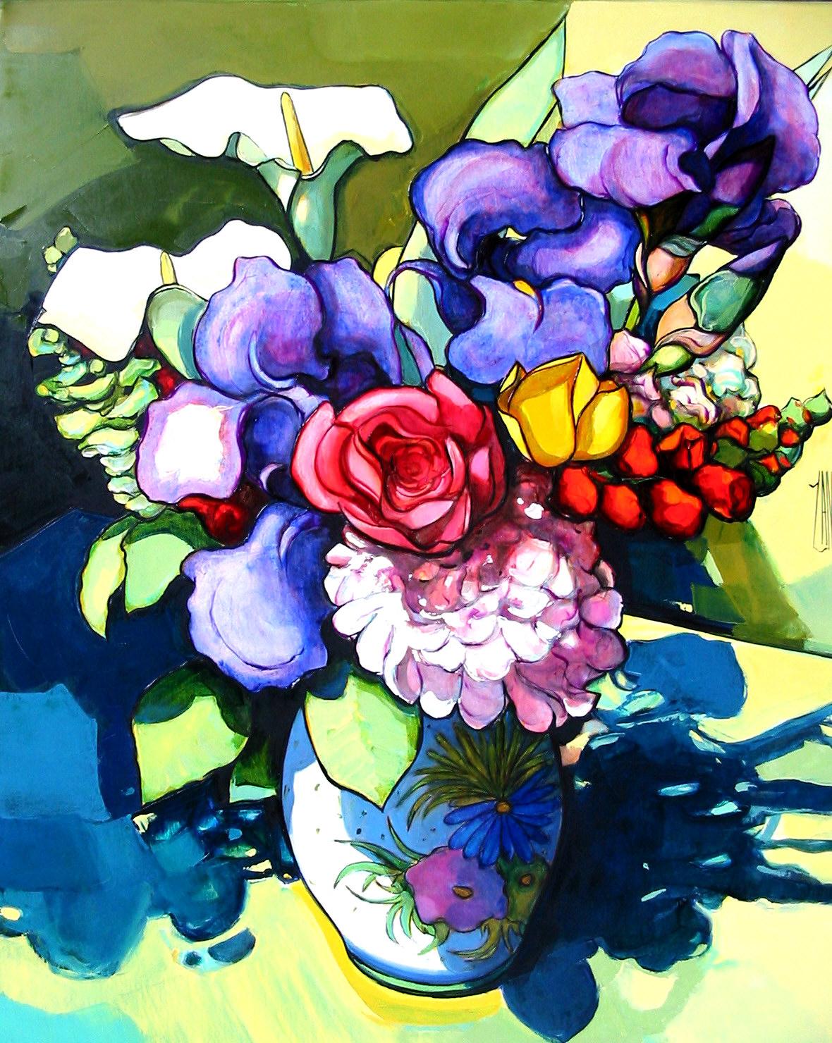 2004-Le bouquet aux iris-10F