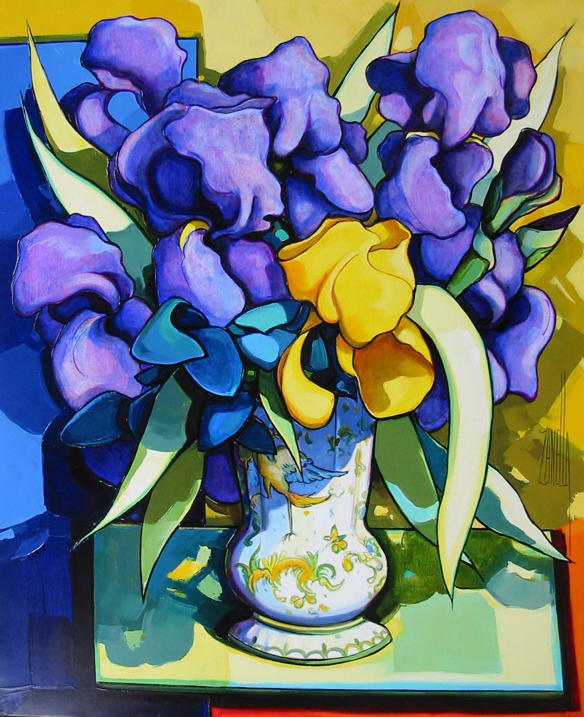 2004-Le bouquet aux iris-12F