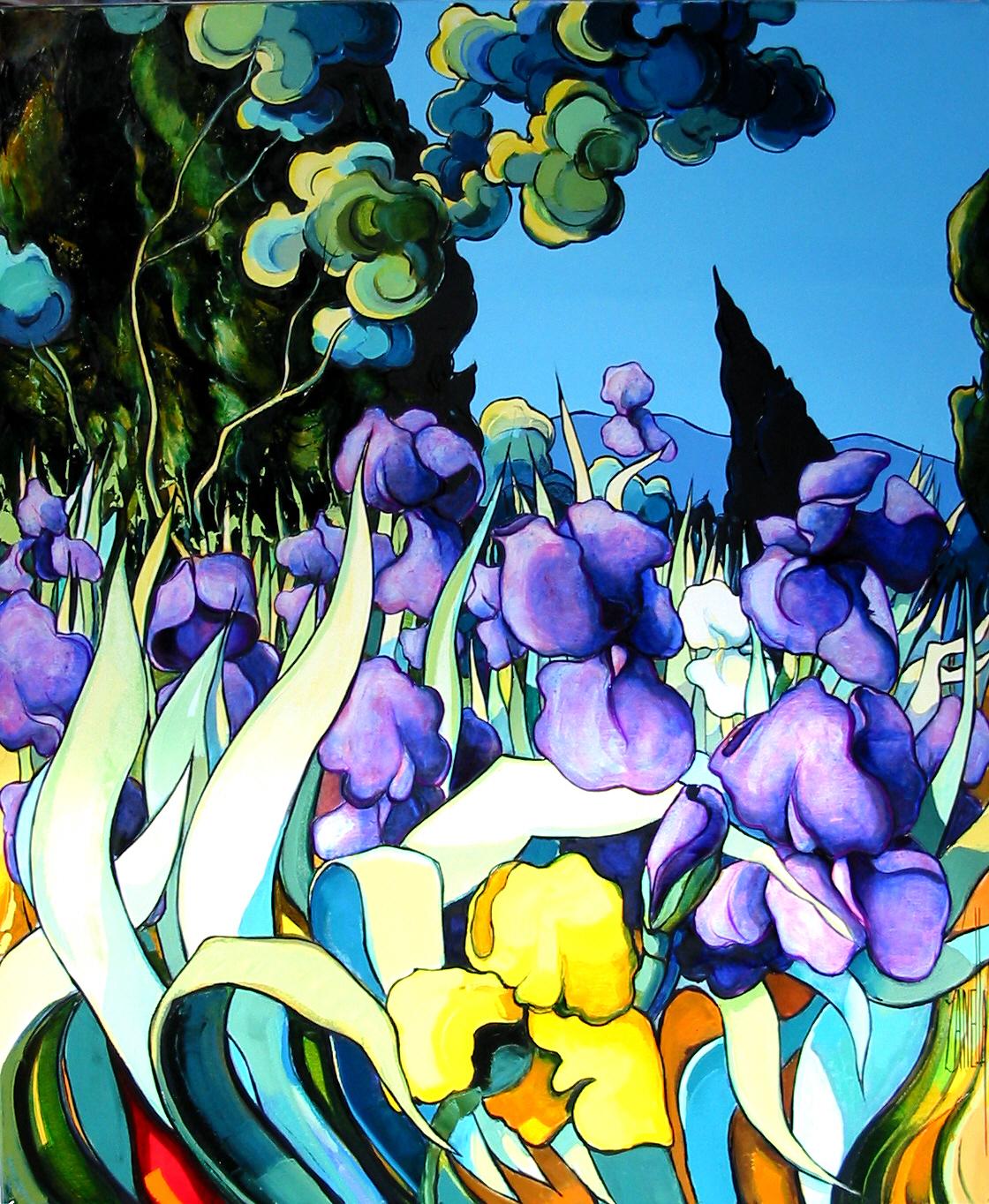 2004 - Les cypres aux iris 15F
