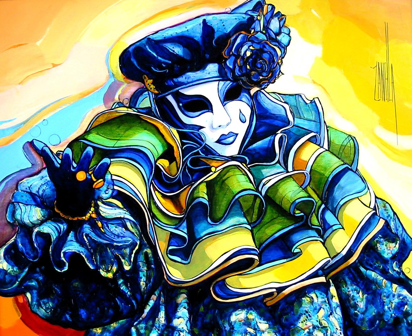 2004-Venise le Pierrot bleu