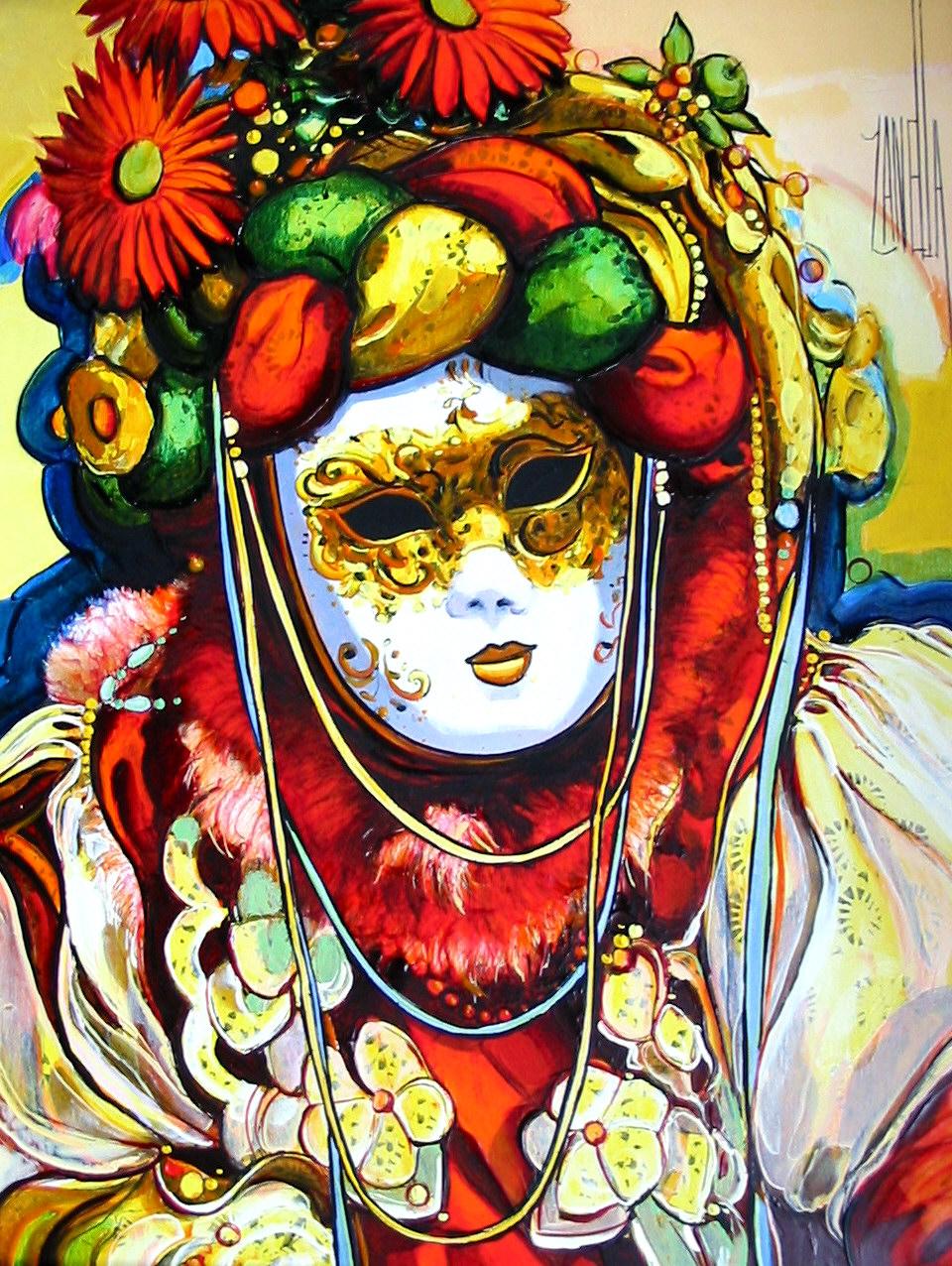2004-Venise le masque aux fleurs-5F