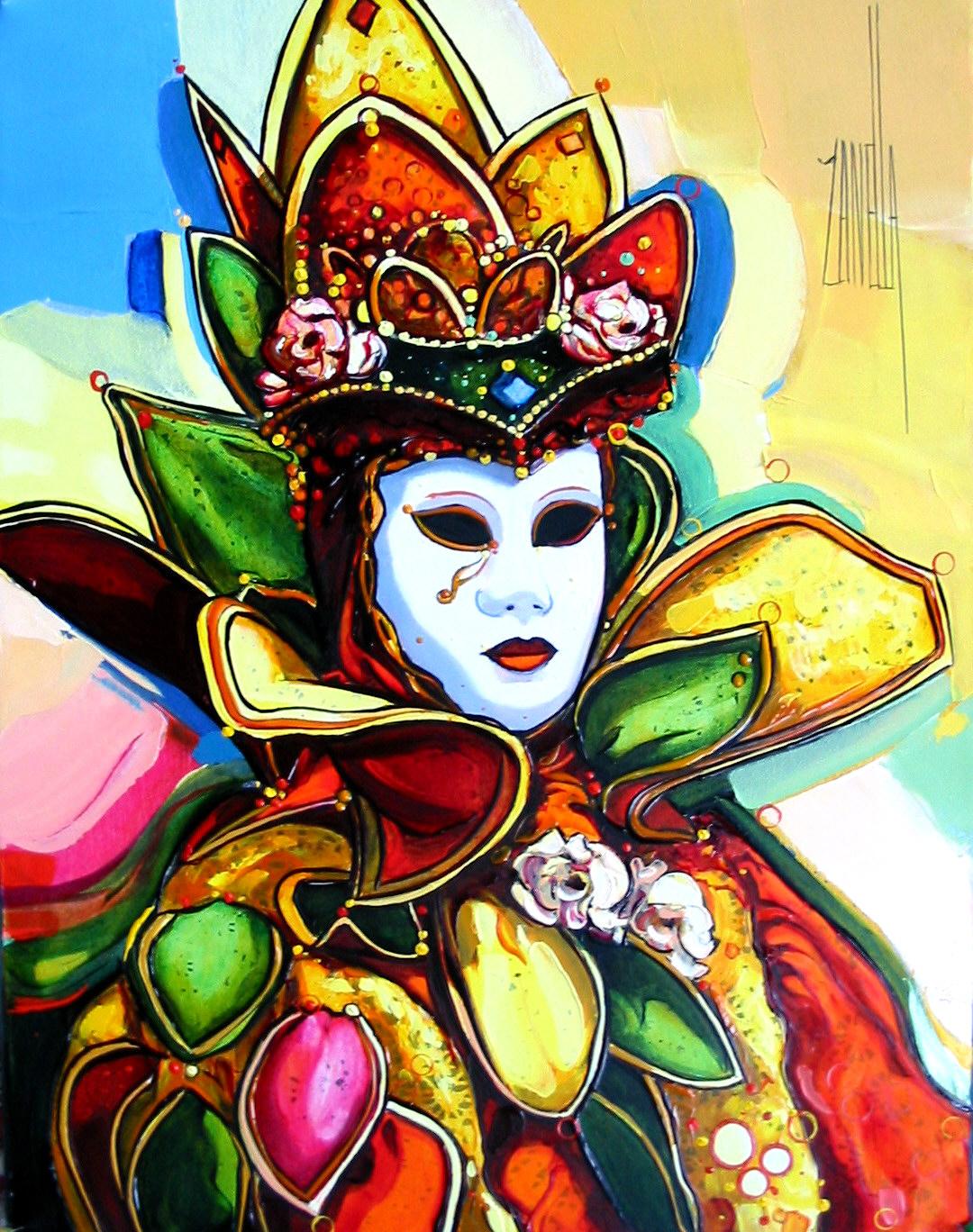2004-Venise le masque aux roses-5F