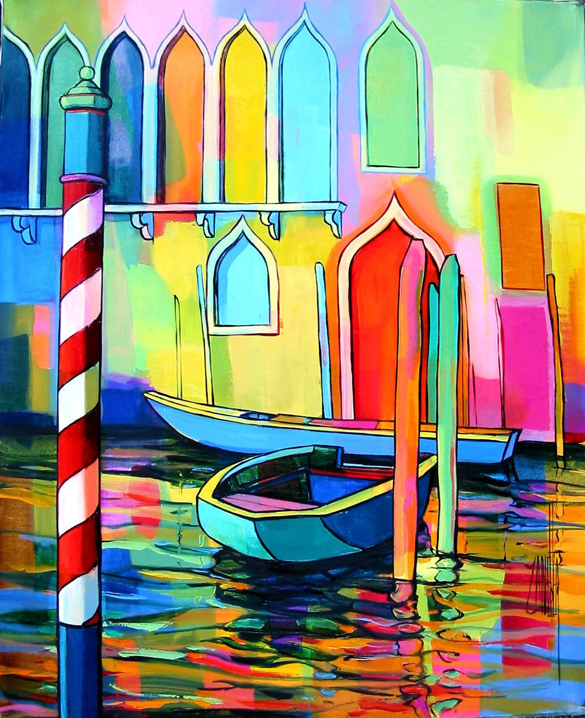 2004-Venise les deux barques-6F