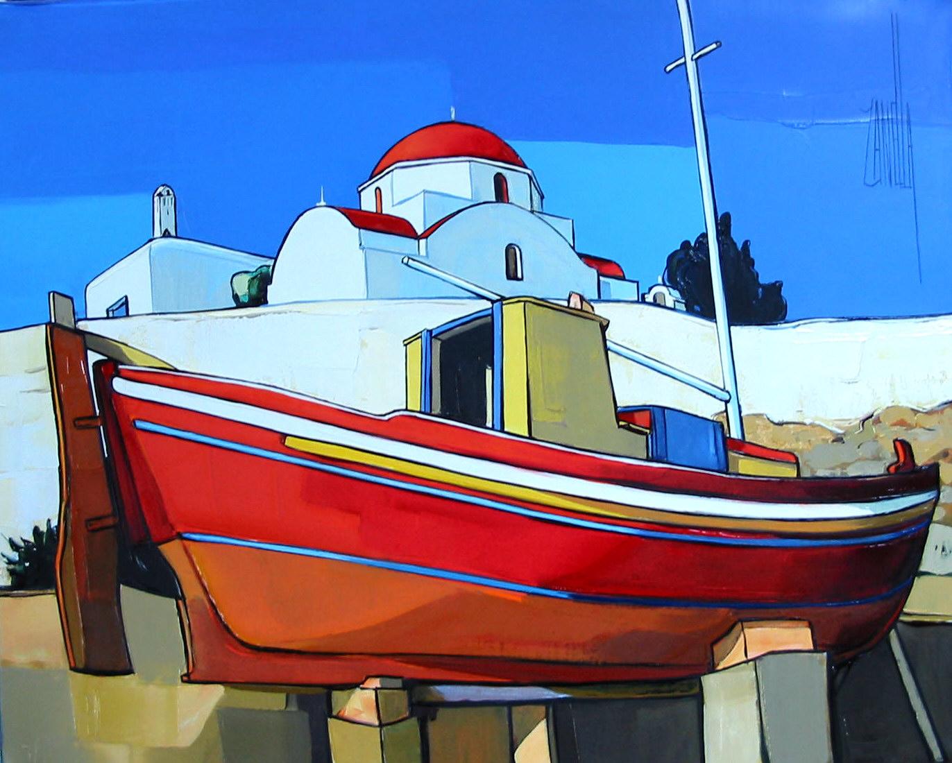 2005-Le Bateau Rouge à Mykonos-6F