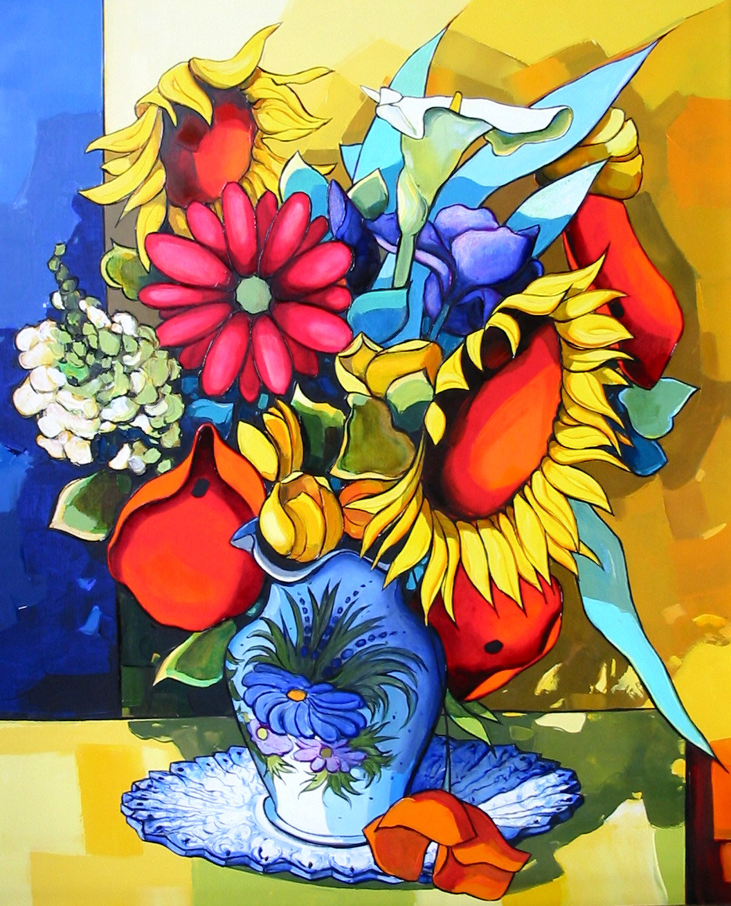 2005-Le bouquet aux deux tournesols-15F