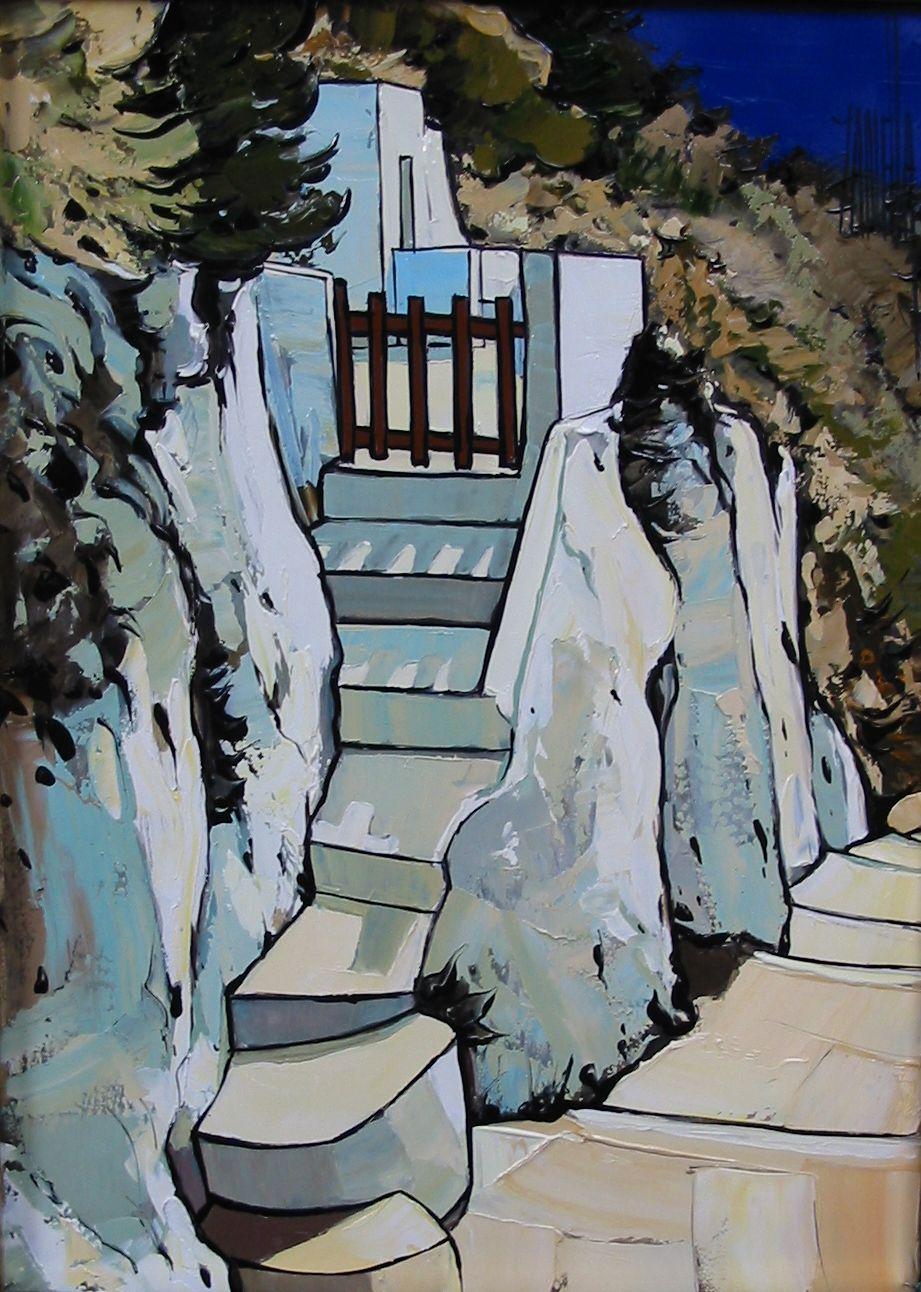 2007-Escaliers à Santorin-4F