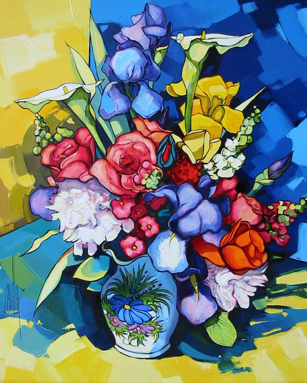 2007-Le bouquet aux iris-12F