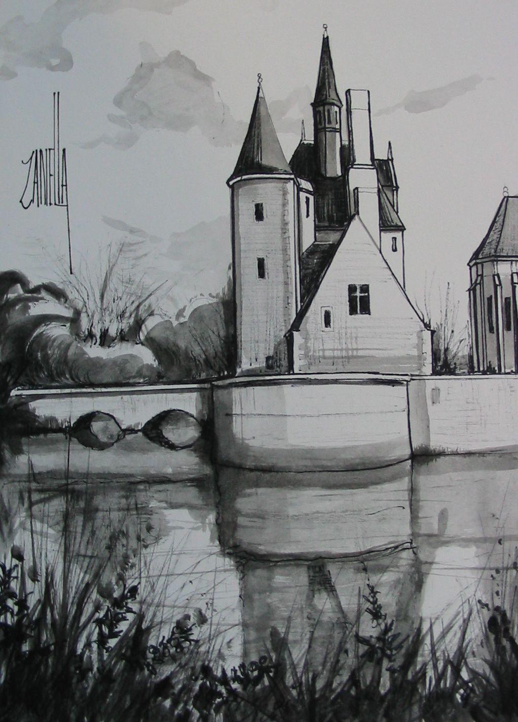2008-dessin-Le château du Moulin