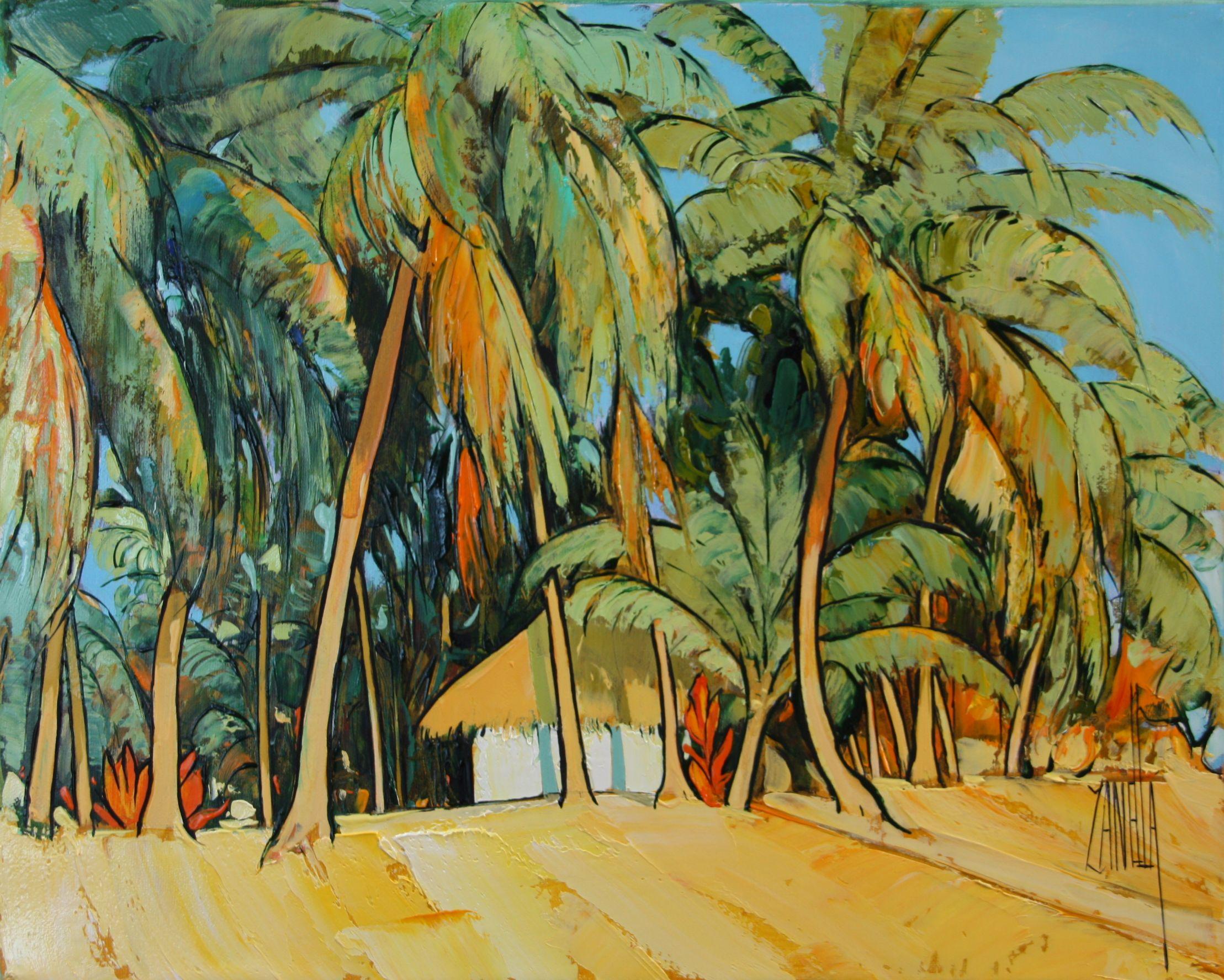 2014-RANGIROA - Faré sur la plage -Polynésie-3F