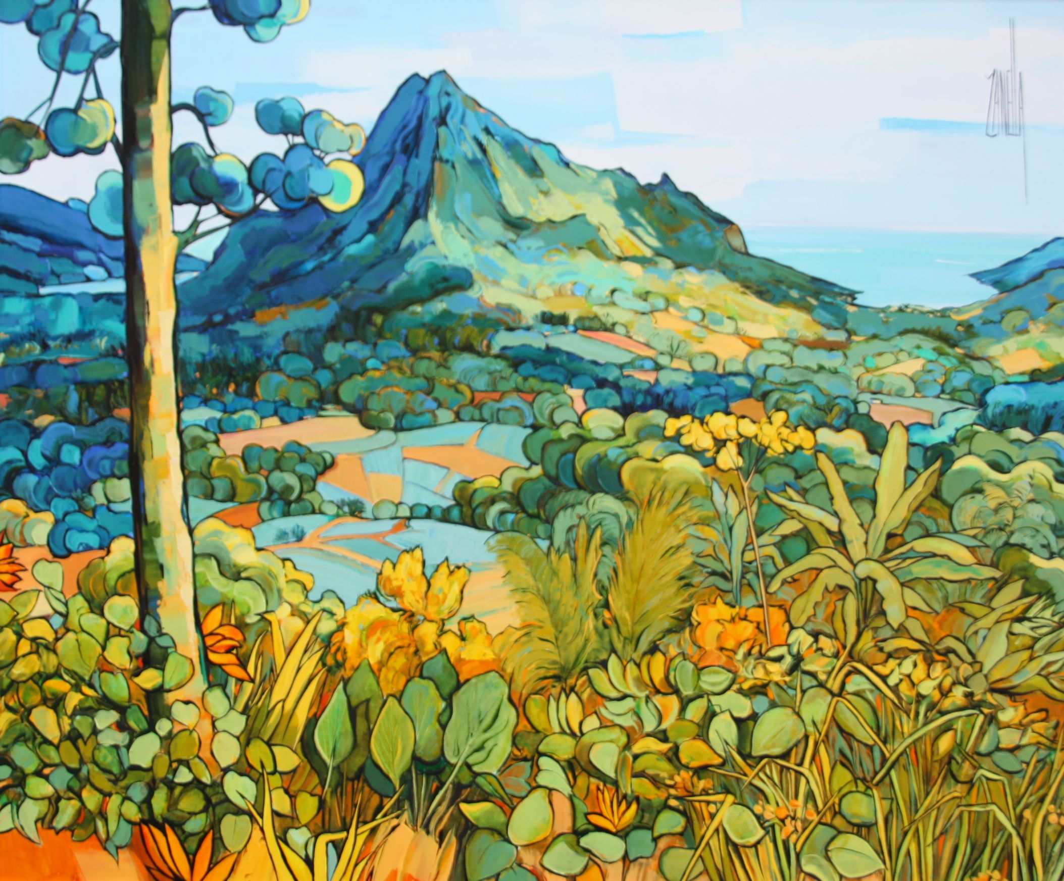 2014-Vue sur le Mont Rotui et la baie de Cook-Mooréa- Polynésie-10F