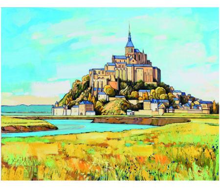 50-MANCHE-Le Mont Saint Michel-50x70cm- Edition 200 exemplaires