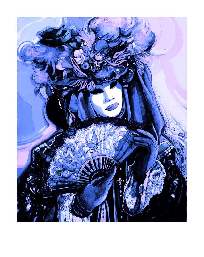 Pigment Print-0702-Masque bleu-rose Pop-68x54cm-50 ex