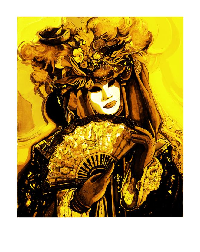 Pigment Print-0703-Masque jaune Pop-68x54cm-50 ex