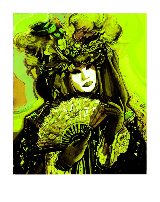 Pigment Print-0705-Masque vert Pop-68x54cm-50 ex