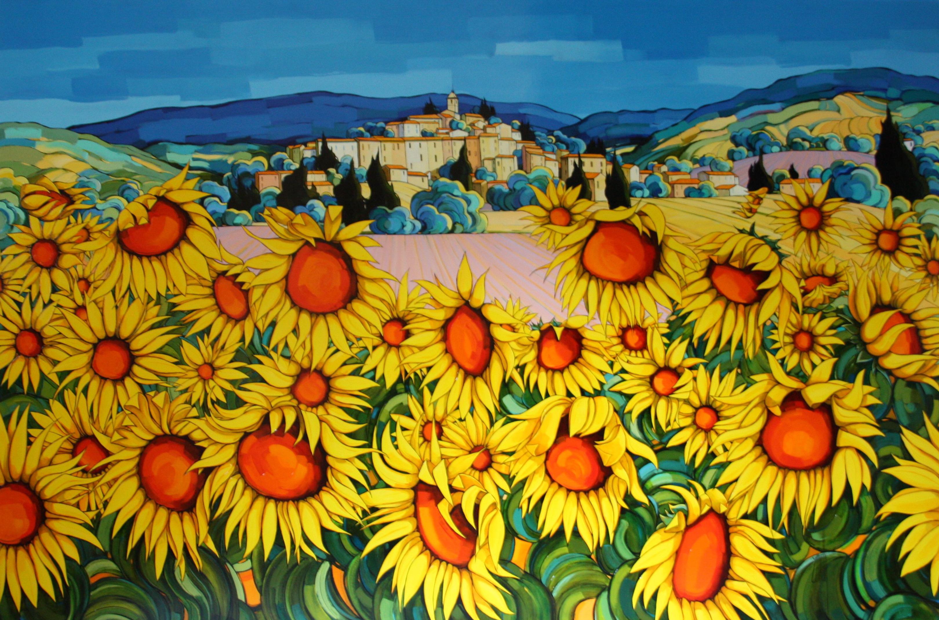 Provence aux tournesols