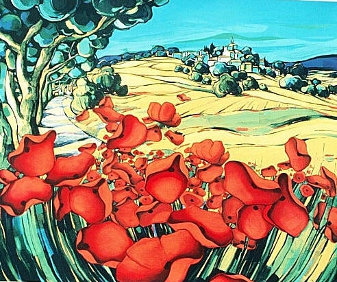 ZAN-La-Route-aux-Coquelicots-72x57cm-Serigraph-Edition-200-sold-out