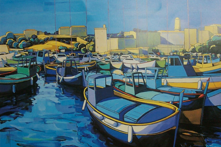 ZAN-Marseille-le-Port-72x57cm-Serigraph-Edition-200-SOLD-OUT