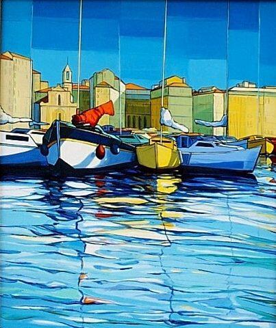 ZAN-Marseille-le-Vieux-Port-et-LEglise-des-Augustins-73x57-2001