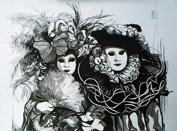 ZAN-Masques-72x57cm-Lithograph-Edition-300-sold-out